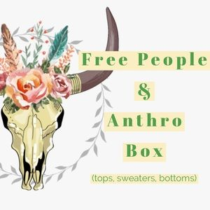 Box of Free People and Anthro